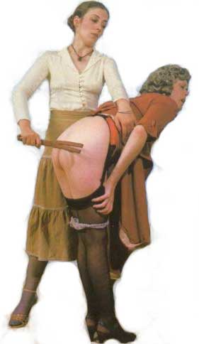 How to properly spank a woman