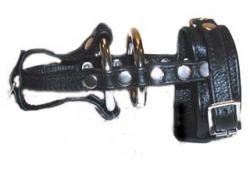 Leather and Steel Penis Restraint